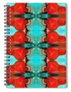 Color Chant - Red And Aqua Pattern Art By Sharon Cummings Spiral Notebook