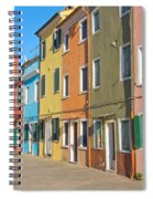 Color Houses In Row Spiral Notebook