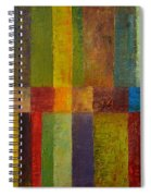 Color Panel Abstract Ll Spiral Notebook
