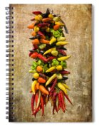 Color Peppers From Spain With Textured Background Dsc01467 Spiral Notebook