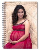 Color Portrait Young Pregnant Spanish Woman II Spiral Notebook
