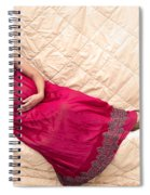 Color Portrait Young Pregnant Spanish Woman Reclining Spiral Notebook