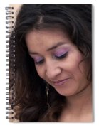 Color Portrait Young Spanish Woman II Spiral Notebook