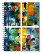 Color Relationships Collage Spiral Notebook