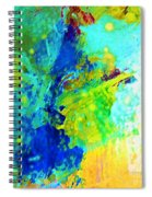 Color Wash Abstract Spiral Notebook