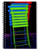 Colorful Cafe Chairs Spiral Notebook