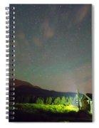 Colorado Chapel On The Rock Dreamy Night Sky Spiral Notebook