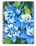 Colorado Columbines Spiral Notebook