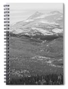 Colorado Continental Divide Panorama Hdr Bw Spiral Notebook