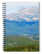 Colorado Continental Divide Panorama Hdr Crop Spiral Notebook