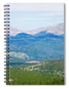 Colorado Continental Divide Panorama Hdr Spiral Notebook
