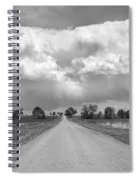 Colorado Country Road Stormin Bw Skies Spiral Notebook