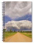 Colorado Country Road Stormin Skies Spiral Notebook