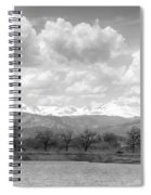 Colorado Front Range Rocky Mountains Panorama Bw Spiral Notebook