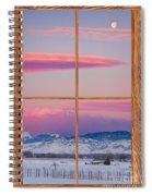 Colorado Moon Sunrise Barn Wood Picture Window View Spiral Notebook