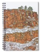 Colorado Red Sandstone Country Dusted With Snow Spiral Notebook