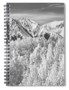 Colorado Rocky Mountain Autumn Beauty Bw Spiral Notebook
