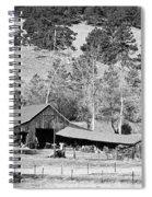 Colorado Rocky Mountain Barn Bw Spiral Notebook