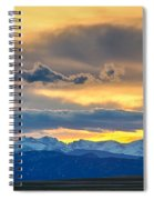 Colorado Rocky Mountain Front Range Sunset Gold Spiral Notebook