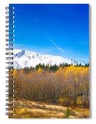 Colorado Rocky Mountain Independence Pass Autumn Pano 1 Spiral Notebook