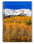 Colorado Rocky Mountain Independence Pass Autumn Pano 2 Spiral Notebook