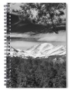 Colorado Rocky Mountain View Black And White Spiral Notebook