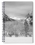 Colorado Rocky Mountain Winter Horseshoe Park Bw Spiral Notebook