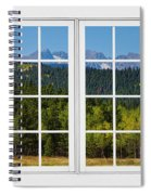 Colorado Rocky Mountains White Window Frame View Spiral Notebook