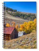 Colorado Rustic Rural Barn With Autumn Colors  Spiral Notebook