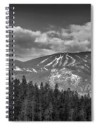 Colorado Ski Slopes In Black And White Spiral Notebook