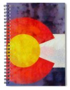 Colorado State Flag Weathered And Worn Spiral Notebook