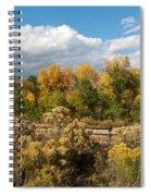 Colorado Urban Autumn Landscape Spiral Notebook