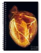 Colored Arteriogram Of Arteries Of Healthy Heart Spiral Notebook