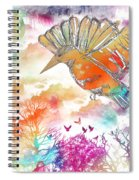 Colored Bird Spiral Notebook