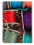 Colored Bobbins - Seamstress - Quilter Spiral Notebook