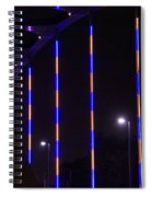 Colored Bridge At Night Spiral Notebook