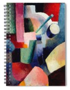 Colored Composition Of Forms   Spiral Notebook