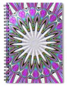 Colored Foil Lily Kaleidoscope Under Glass Spiral Notebook