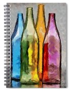 Colored Glass Bottles Spiral Notebook