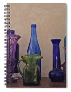 Colored Glass Spiral Notebook