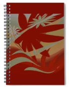 Colored Jungle Red Spiral Notebook