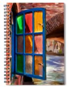 Colored Light Spiral Notebook