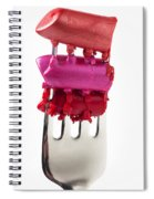 Colored Lipstick On Fork Spiral Notebook