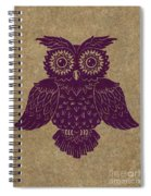 Colored Owl 1 Of 4  Spiral Notebook