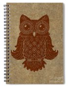 Colored Owl 2 Of 4  Spiral Notebook