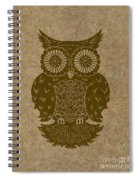 Colored Owl 3 Of 4  Spiral Notebook