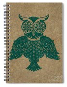 Colored Owl 4 Of 4  Spiral Notebook