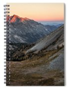 Colored Peaks Spiral Notebook