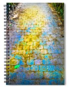 Colored Stones And Lichen Covered Bridge Spiral Notebook
