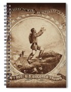 Colored Troop Recruiting Spiral Notebook